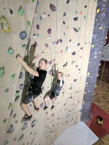 Indoor climbing at the Nordkapp summer party