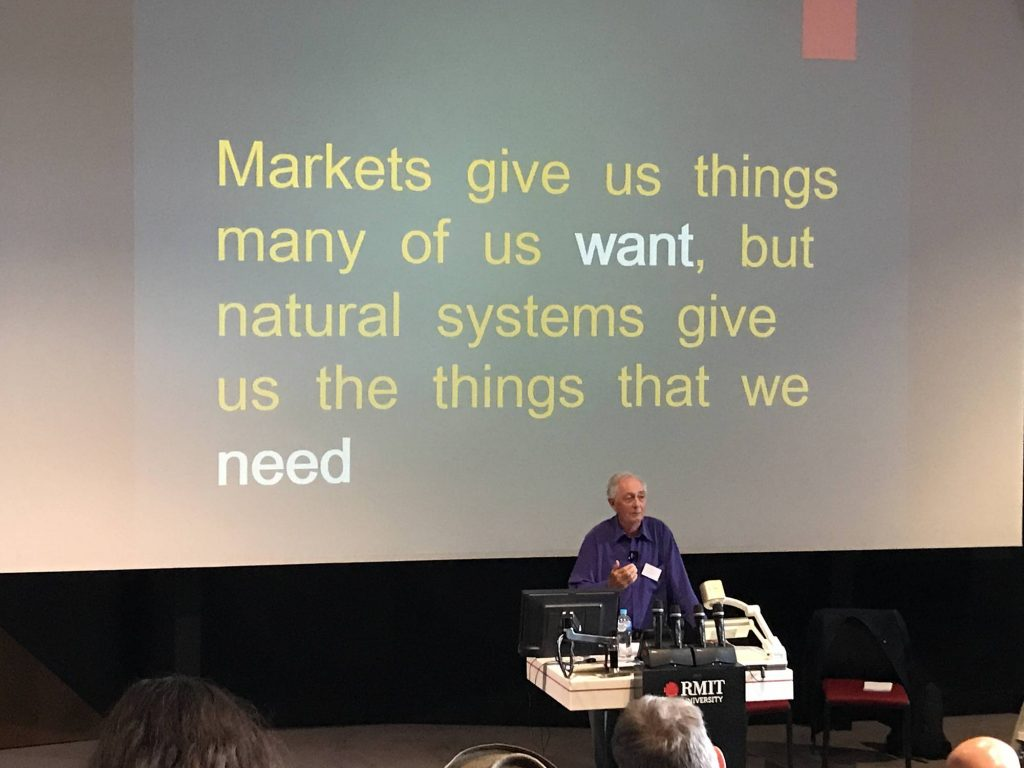 Markets give us things many of us want, but natural systems give us the things that we need